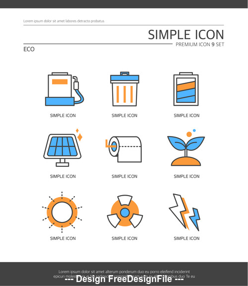 Eco abstract icon vector