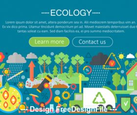 Ecology flat design concept vector