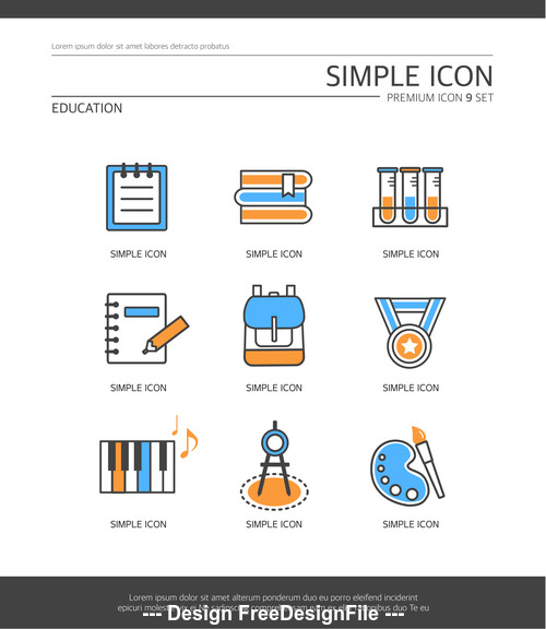 Education abstract icon vector