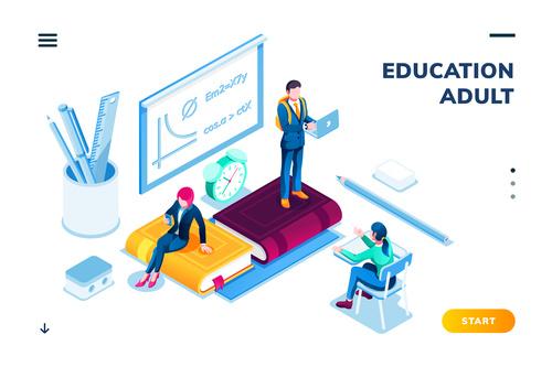 Education cartoon illustration vector