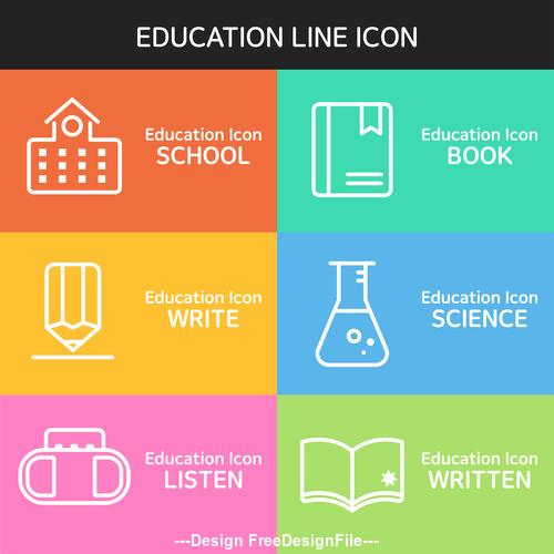 Education line icon vector