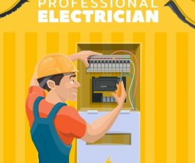 Electrician professional service vector