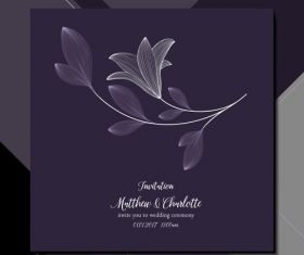 Elegant background wedding invitation card vector