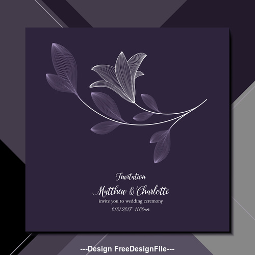 Elegant Background Wedding Invitation Card Vector Free Download