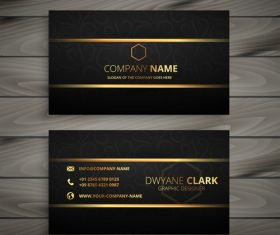 Elegant black gold business card design vector