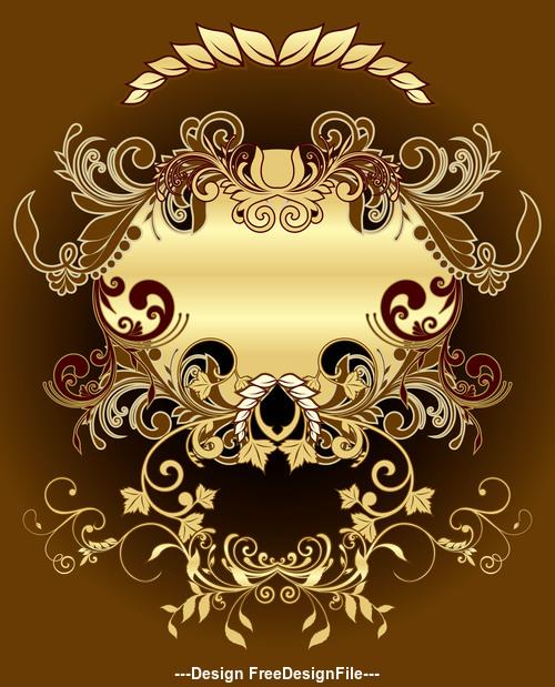 Elegant decorative frame vector