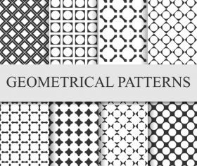 Faillette seamless patterns vector