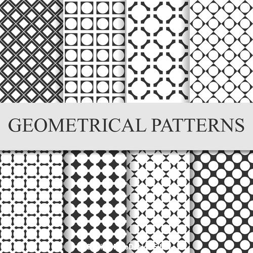 Faillette seamless patterns vector