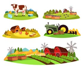 Farm cartoon illustration vector