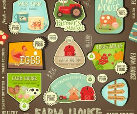 Farm house tag vector