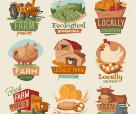 Farm product tag vector
