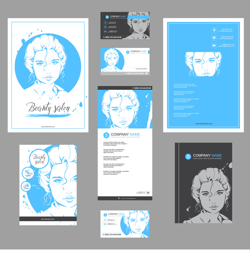 Fashion girl fashion template for poster design vector