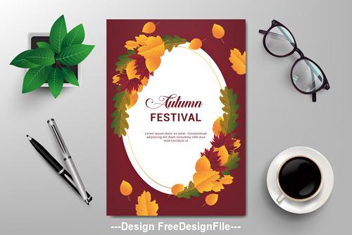Festival flyer design vector template
