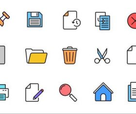File Action Icons vector