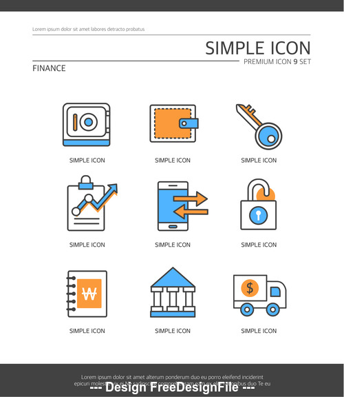 Finance abstract icon vector