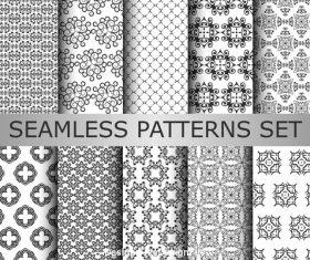 Fisheye seamless patterns vector
