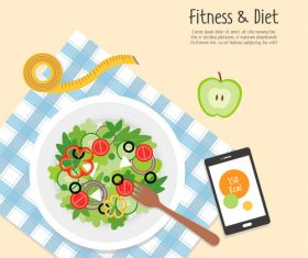 Fitness Food vector