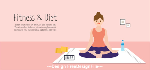 Fitness and Diet Illustration vector