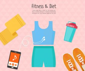 Fitness clothing vector