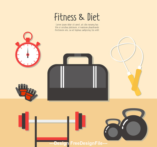 Fitness exercise time vector