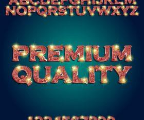 Flash font vector