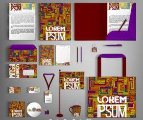 Flower stripe background cover card brochure vector