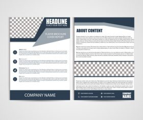 Flyer Template black background vector