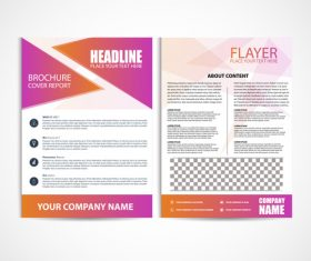 Flyer Template color vector
