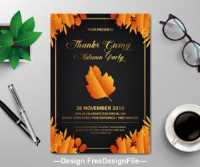 Flyer design vector template
