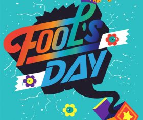Fools Day Vector Illustration 01