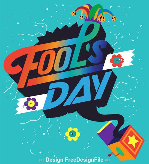 Fools Day Vector Illustration 01