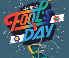 Fools Day Vector Illustration 02
