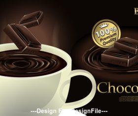 Fragrant chocolate drink vector illustration