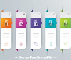 Free design infographics banner vector