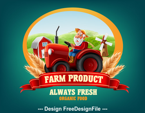 Fresh farm product Illustrations vector