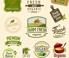 Fresh farm product label vector