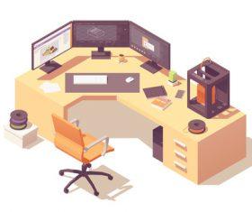 Furniture3D vector
