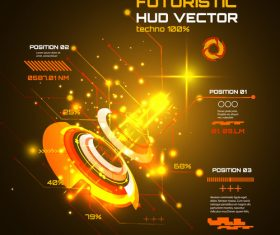 Futuristic hud vector background