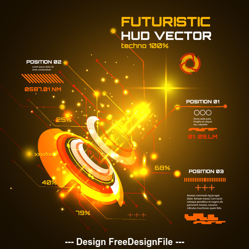 Futuristic hud vector background