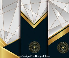 Geometric art deco template vector