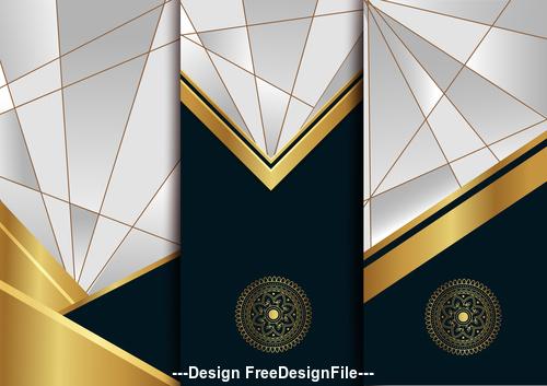Geometric art deco template vector