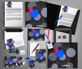 Geometric background card brochure design vector