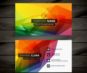 Geometric color advanced business card design vector