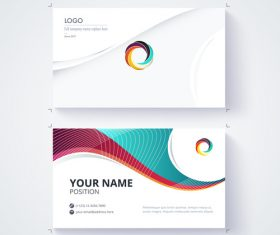 Geometric pattern business card template vector