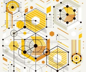 Geometric tech background pattern vector