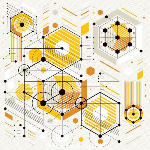 Geometric tech background pattern vector