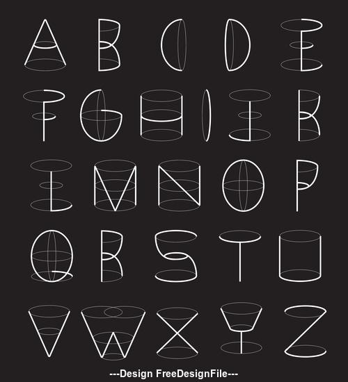 Geometry font vector