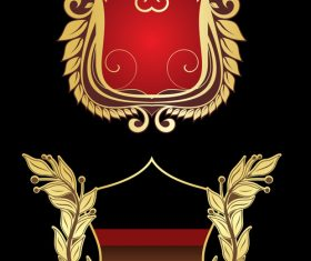 Gold border heraldry vector