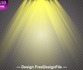 Golden Spotlights light effects vector