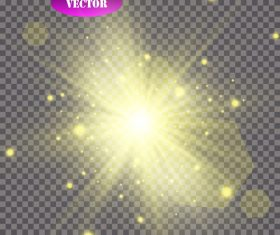 Golden explosion glow light effect vector